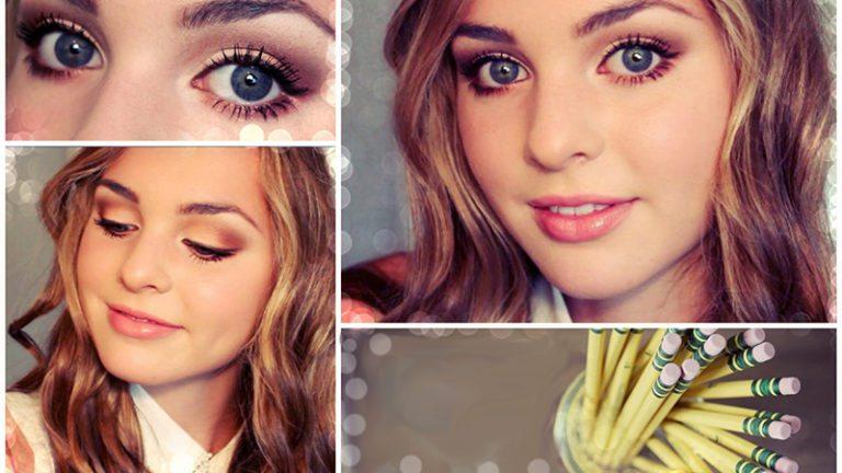 Картинки красивого макияжа в школу