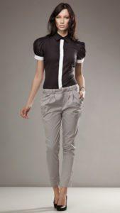 женские брюки галифе и блузка