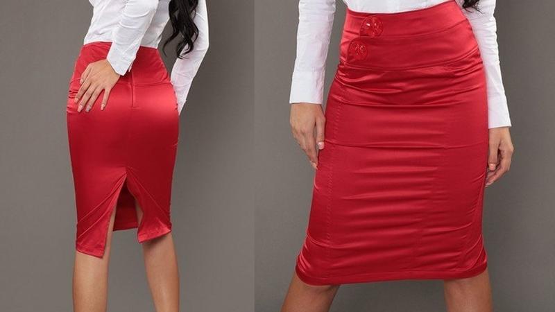 атласная юбка и кружевной топ