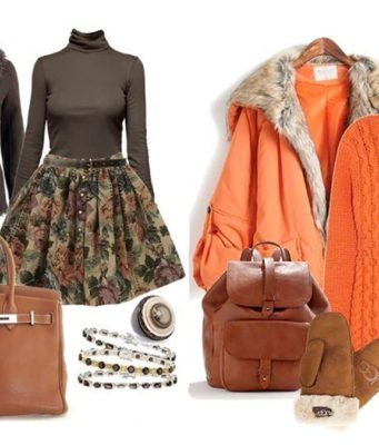 Зимний гардероб женщины