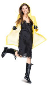 Дождевик с платьем-комбине