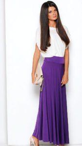 С чем носить лиловую юбку