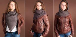 Варианты как носить оренбургский платок