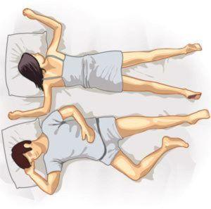 Позы сна пар и их значение