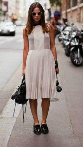 С чем носить лаковые женские ботинки