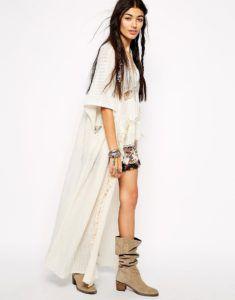 С чем носить накидку кимоно