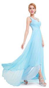 С чем носить нежно голубое платье
