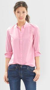 С чем носить нежно-розовую блузку