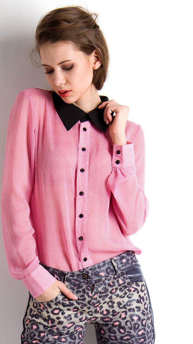 С чем носить нежно розовую блузку