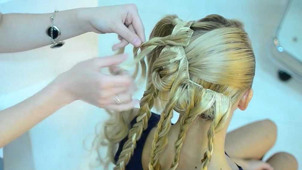 Волосы на заколках прически с ними фото