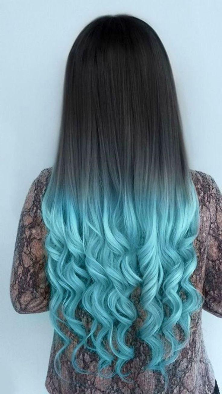 Как покрасить волосы в синий цвет: шевелюра голубого холодного оттенка 4