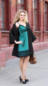 С чем носить платье-комбинация