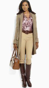 С чем носить женские жокейские сапоги