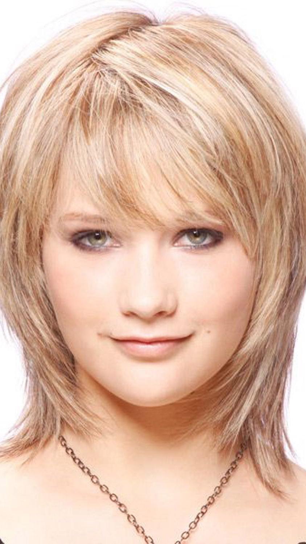 Прическа каскад фото на средние волосы с челкой круглое лицо